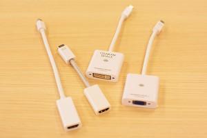 オオサカンスペース備品 : 各種コネクタ(VGA、DIV、HDMI)