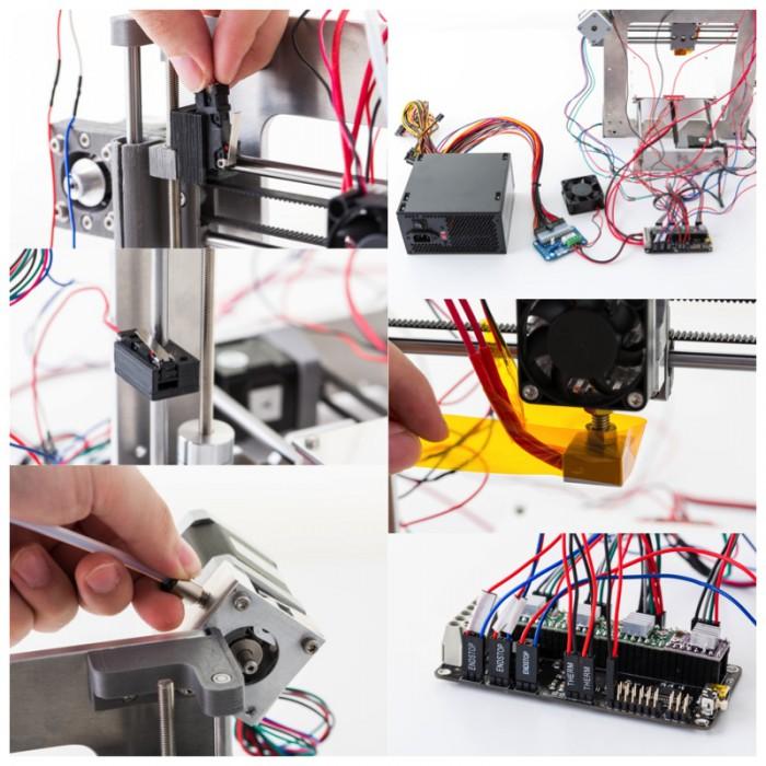 3Dプリンターワークショップで組み立てるatom