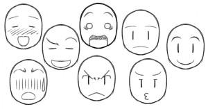 表情のバリエーション